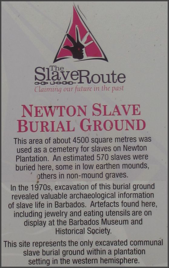 Newton Slave Burial Ground in Barbados