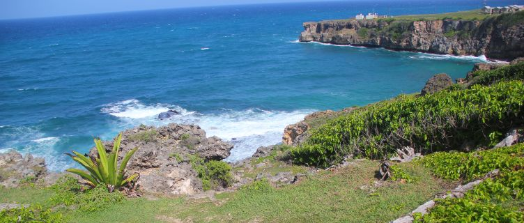 Rugged clifftops at Ragged Point, Barbados
