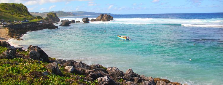 The secluded east coast of Barbados