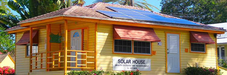 Solar house in Queen's Park, Barbados