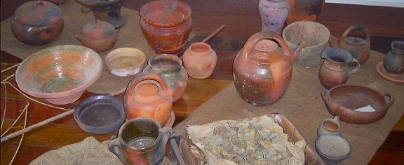 Pottery on display at Springvale Eco-Heritage Museum