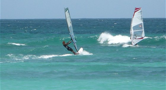 Windsurfing at Barbados Turtle Beach