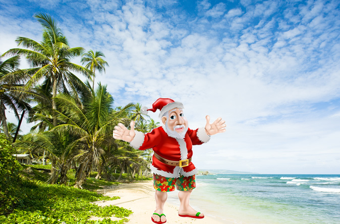 Tropical Christmas Vacation In The Caribbean Island Barbados